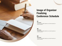 Image Of Organizer Finalizing Conference Schedule