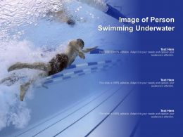 Image Of Person Swimming Underwater