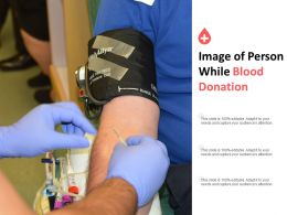 Image Of Person While Blood Donation