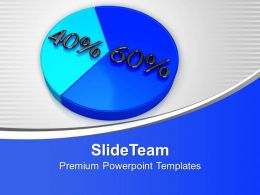 Image Of Pie Chart With Percent PowerPoint Templates PPT Themes And Graphics 0213