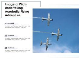 Image Of Pilots Undertaking Acrobatic Flying Adventure