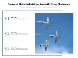 Image Of Pilots Undertaking Acrobatic Flying Challenges