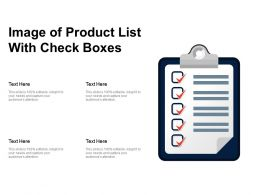Image Of Product List With Check Boxes