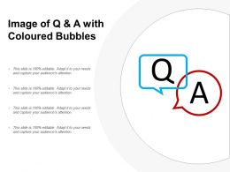 Image Of Q And A With Coloured Bubbles