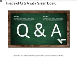 Image Of Q And A With Green Board