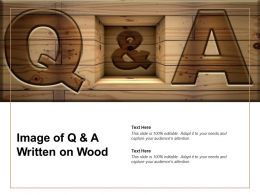 Image Of Q And A Written On Wood