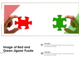 Image Of Red And Green Jigsaw Puzzle