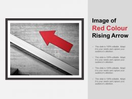 Image Of Red Colour Rising Arrow
