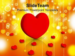 Image Of Red Hearts Over Stylish Background Powerpoint Templates Ppt Themes And Graphics 0213