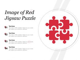 Image Of Red Jigsaw Puzzle