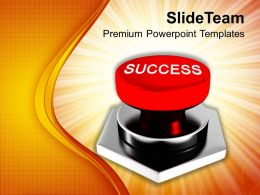 Image Of Red Success Button Powerpoint Templates PPT Themes And Graphics 0113
