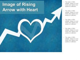 Image Of Rising Arrow With Heart