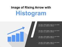 Image Of Rising Arrow With Histogram