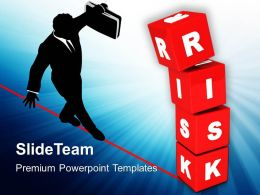 Image Of Risk Concept With Red Cubes Powerpoint Templates Ppt Themes And Graphics 0213