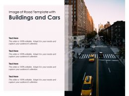 Image Of Road Template With Buildings And Cars