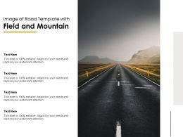 Image Of Road Template With Field And Mountain