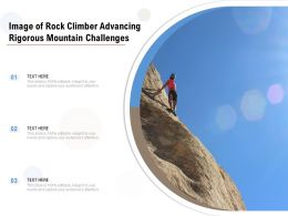 Image Of Rock Climber Advancing Rigorous Mountain Challenges