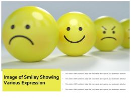 Image Of Smiley Showing Various Expression