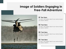 Image Of Soldiers Engaging In Free Fall Adventure