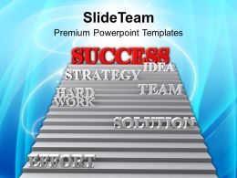 Image Of Stairway To Success Powerpoint Templates PPT Themes And Graphics 0113
