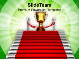 Image Of Stairway To Winner Trophy Powerpoint Templates Ppt Themes And Graphics 0213