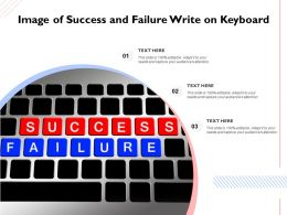 Image Of Success And Failure Write On Keyboard