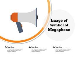 Image Of Symbol Of Megaphone