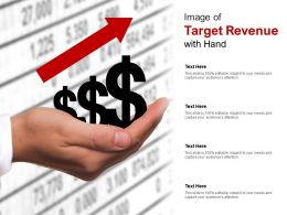 Image Of Target Revenue With Hand