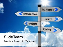 Image Of Tax Planning Finance Signpost Powerpoint Templates Ppt Themes And Graphics 0213