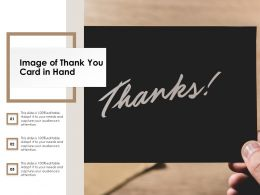 Image Of Thank You Card In Hand