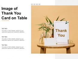 Image Of Thank You Card On Table