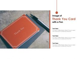 Image Of Thank You Card With A Pen