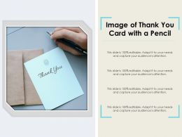 Image Of Thank You Card With A Pencil