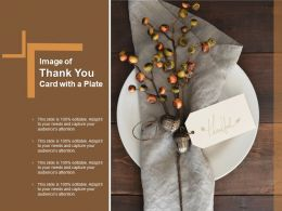 Image Of Thank You Card With A Plate