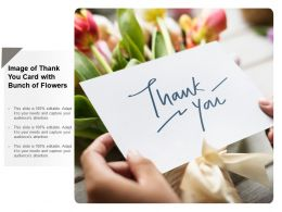 Image Of Thank You Card With Bunch Of Flowers
