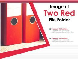 Image Of Two Red File Folder