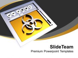 Image Of Virus Concept In 3D Style PowerPoint Templates PPT Themes And Graphics 0213