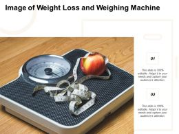 Image Of Weight Loss And Weighing Machine