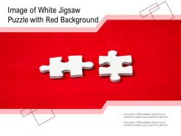 Image Of White Jigsaw Puzzle With Red Background