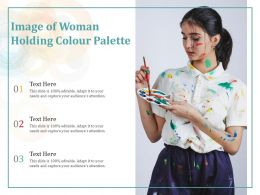Image Of Woman Holding Colour Palette