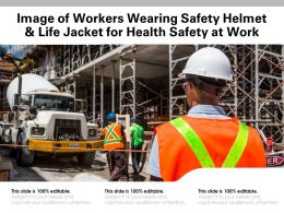 Image Of Workers Wearing Safety Helmet And Life Jacket For Health Safety At Work