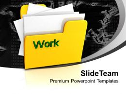 Image Of Yellow Folder With Word Work Powerpoint Templates Ppt Themes And Graphics 0113