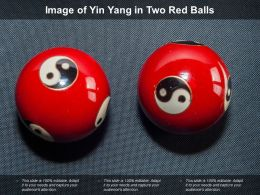 Image Of Yin Yang In Two Red Balls