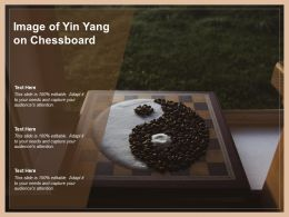 Image Of Yin Yang On Chessboard