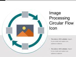 Image Processing Circular Flow Icon