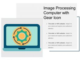 Image Processing Computer With Gear Icon