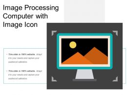 Image Processing Computer With Image Icon