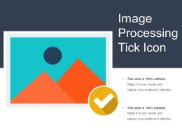 Image Processing Tick Icon