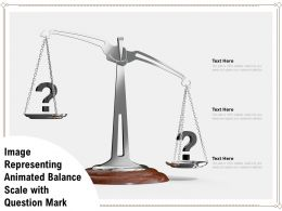 Image Representing Animated Balance Scale With Question Mark