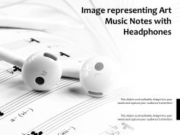 Image Representing Art Music Notes With Headphones